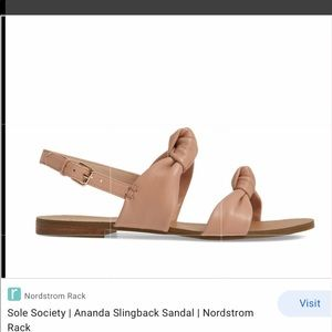 NWT! Sole Society Ananda Slingback Sandals!